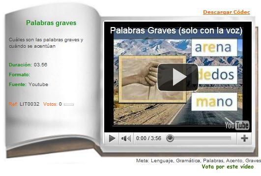 Palabras graves | Recurso educativo 36356