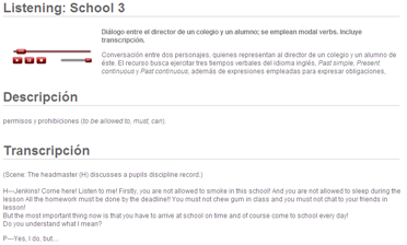 Listening: School (modal verbs) | Recurso educativo 48394
