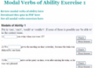 Modal verbs of ability | Recurso educativo 59807