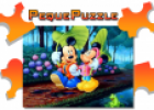 Puzzles: Mickey y Minnie paseando | Recurso educativo 60654