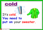 Weather and clothes (flashcards) | Recurso educativo 18140