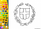 ¡A Colorear!: Escudo griego | Recurso educativo 27369