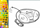 ¡A Colorear!: Radio cassette | Recurso educativo 28951