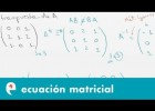 Ecuacion matricial (ejercicio 1) | Recurso educativo 109460