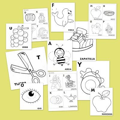 Fichas De Abecedario Para Aprender Y Colorear Recurso