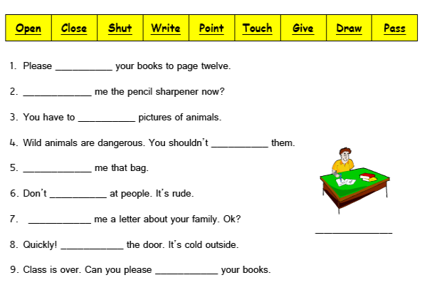 Imperatives worksheet | Recurso educativo 39932 - Tiching